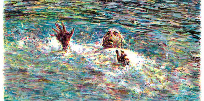 Noyade, 2008. impression à jet d'encre sur papier 90 x 120 cm Collection : Cegep de Saint-Hyacinthe