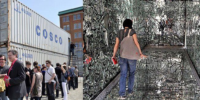 Doyon/Demers, Plan B, environnement, Manif d'art 5, Québec, 2010. Photos : Lise Breton (extérieur) et Patrice Laroche (intérieur).