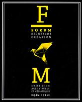 Couverture de la publication : Forum recherche-création 2012