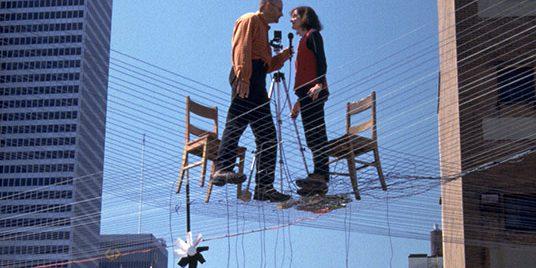 Doyon/Demers, Situation construite, performance et installation télématique, Festival Art Action Actuel (FA3), Montréal, 2001Photo : Benoit Pontbriand